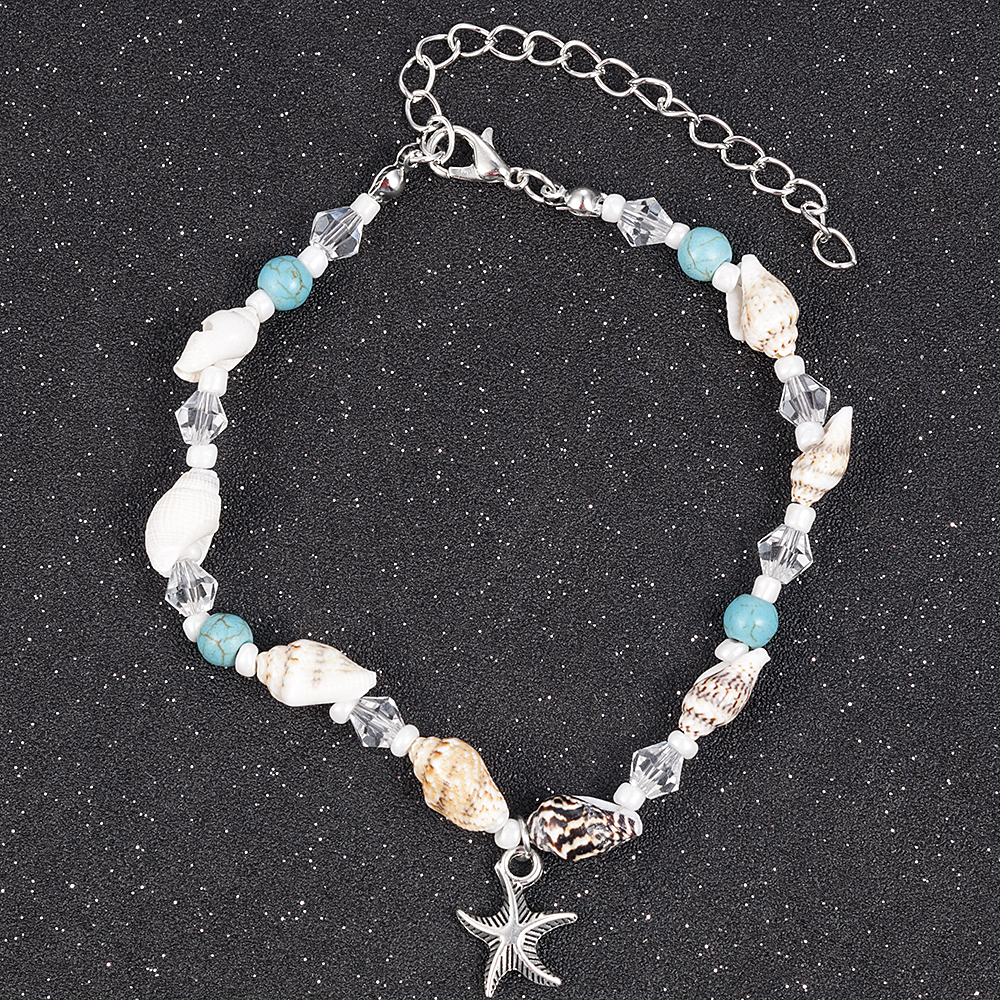 2019 New Simple Boho Women Bead Shell Anklet Ankle Bracelet Barefoot Sandal Beach Foot Jewelry tobilleras pulsera para tobillo