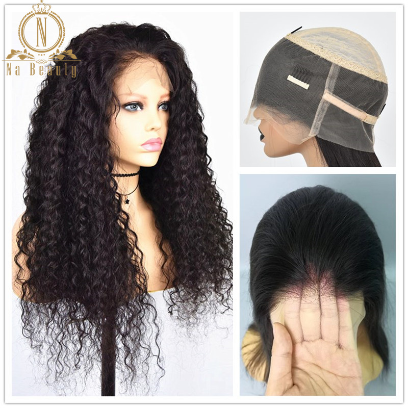 HD Transparent Lace Curly Wig 360 Lace Frontal Wig Bleached Knots Pre Plucked Glueless 13x6 Lace Front Human Hair Wigs Remy Hair
