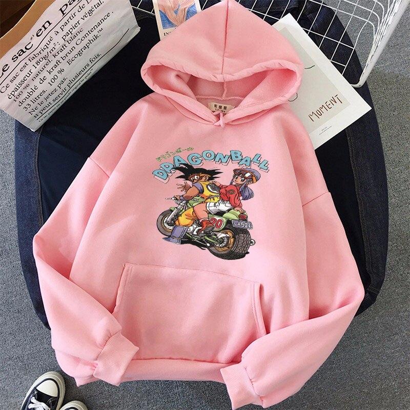 Japanese Anime Printed Hoodies 2021 Spring Autumn Long Sleeve Hoodie Women Cartoon Graphic Streetwear Sweatshirts Female Tops 31