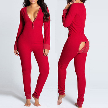 2021 new jumpsuit women One-Piece bodysuit Women Sexy Adult rompers Pajamas Suit Printing Casual Button Long-Sleeved Nightgown 2