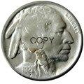 США 1921 с гравировкой в виде американского бизона из никеля, копия пяти центов, декоративная монета
