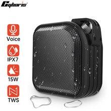 Cyboris Bluetooth Speaker Ourdoor Waterproof Portable Wireless TWS Subwoofer Speakers Smart Voice DSP with MIC For Xiaomi Huawei