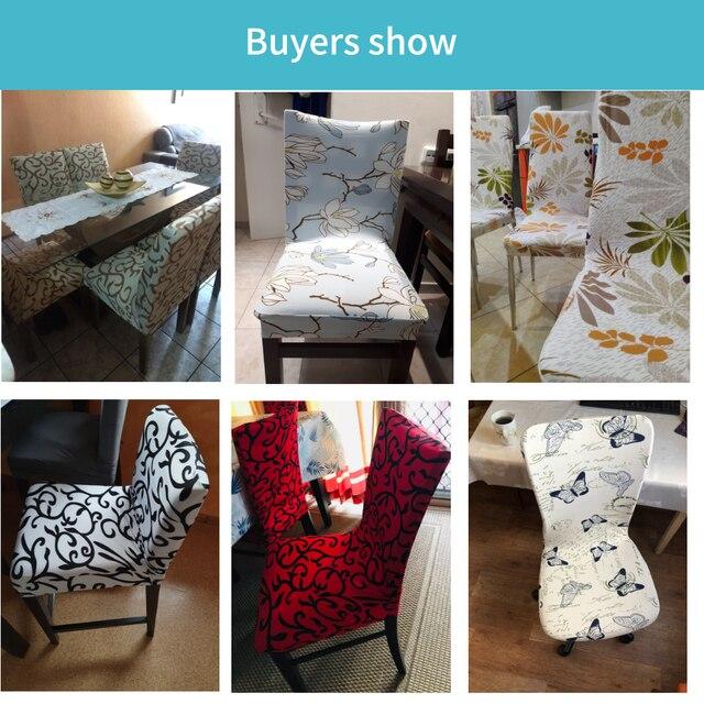 Floral Design Elastic Chair Slipcover 5