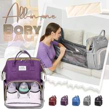 Mother's good helper All-in-one Baby Bag Lequeen Fashion Mummy Maternity Nappy Bag Large Capacity Nappy Bag Travel Backpack Nurs