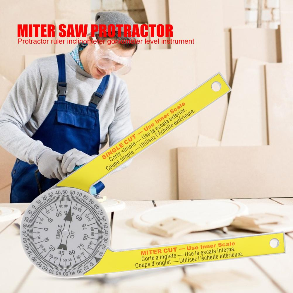 Angle Finder Ruler Miter Saw Protractor Drawing Measuring Tool Level Instrument