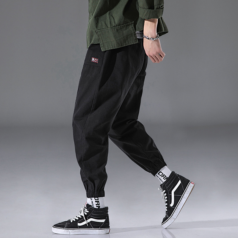 Casual Harem Pants Men's Autumn Clothing Japanese-style Trend Sports Pure Cotton Loose-Fit Popular Brand Versatile Simple Skinny