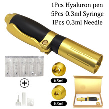 0.3ml 0.5ml Hialuron Pen Syringe Hyaluronic Acid for lip filler mesoterapia pressurizada Needle free injection mesogun