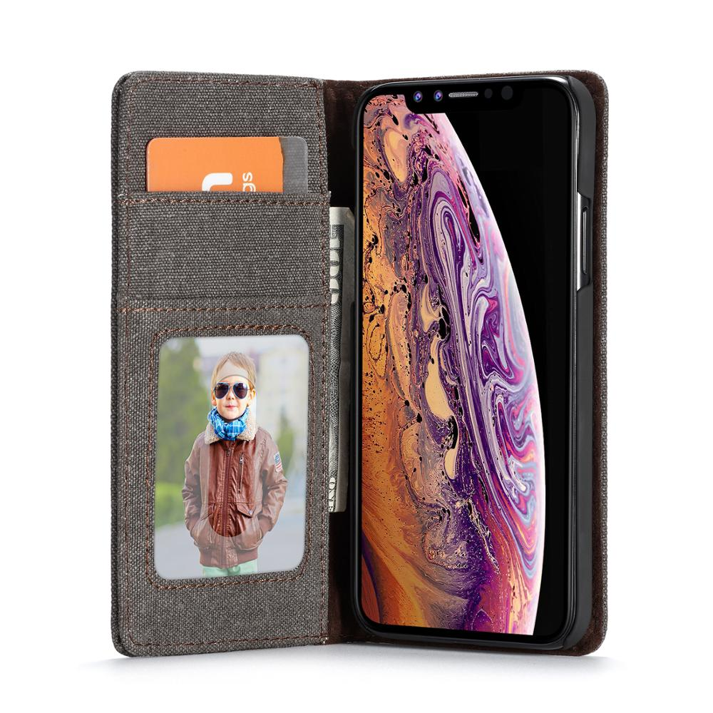 Case Me Denim Soft TPU Magnetic Cases For iPhone X XR XS Max Wallet Card Holders Phone Case For iPhone 8 7 6 Plus 6S Cover in Wallet Cases from Cellphones Telecommunications