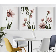 Nordic Simple Tulip Decorative Painting Wall Decoration Wall Hanging Painting Canvas Painting Painting Core Frameless relief three dimensional decorative painting mural hanging painting decorative painting room decoration painting core