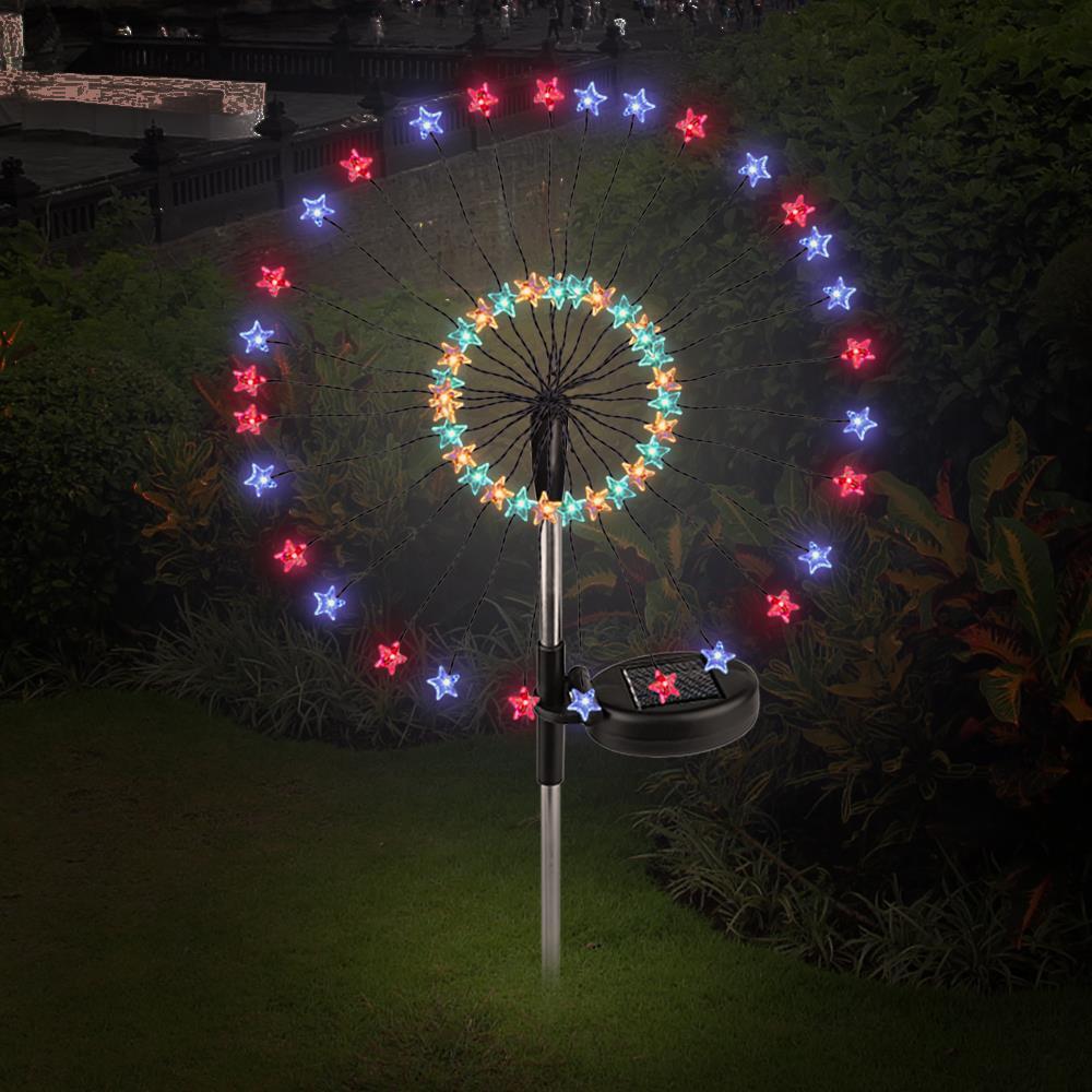Solar Energy Creative Star Fairy Bouquet Dandelion Lights Star Solar Fairy Light Star Firework String Light Festival