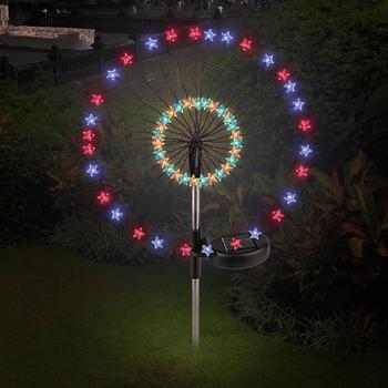 цена на Solar Energy Creative Star Fairy Bouquet Dandelion Lights Star Solar Fairy Light Star Outdoor Firework String Light  Festival