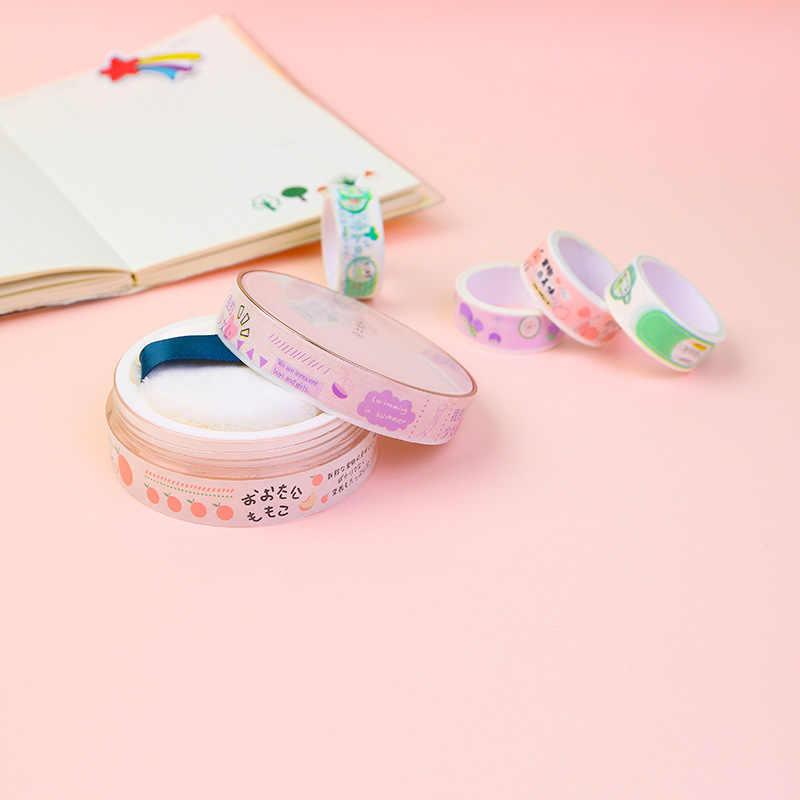 Juego de 5 unidades de cintas adhesivas con diseño de aguacate Girl, conjunto de cintas para decoración verde de Washi, pegatinas para álbumes de recortes DIY, cinta adhesiva