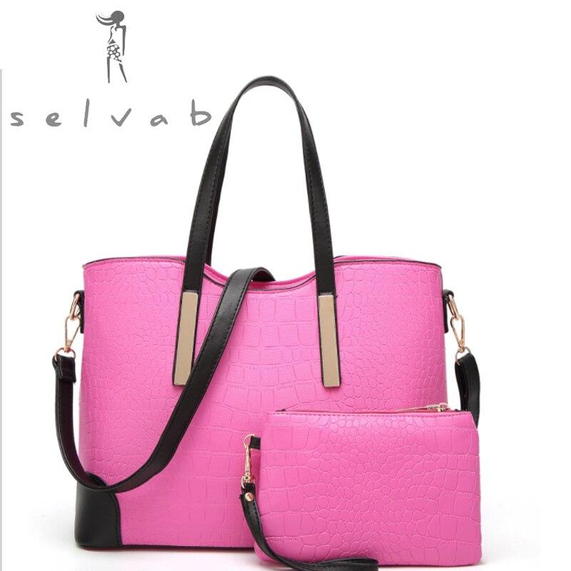 New female bag embossed fashion boutique Single Shoulder Handbag crocodile twill straddle mother bag