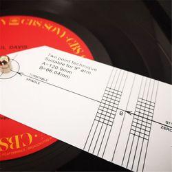 Measuring Ruler Pickup Calibration Distance Meter Record LP Vinyl Turntable 24BB
