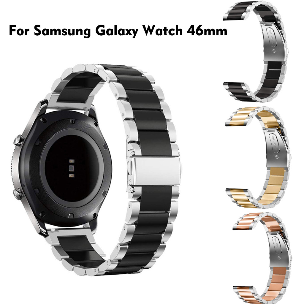 Quick-Release Galaxy Watch Samsung 46mm Watchband-Wriststrap Stainless-Steel Comfortable