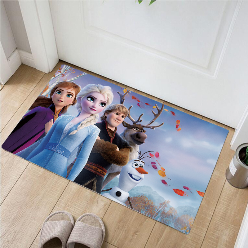 Disney Frozen Anna Elsa Door Mat  Non-slip Mat Kids Boys Girls  Carpet  Bedroom Kitchen Carpet Indoor Bathroom Mat