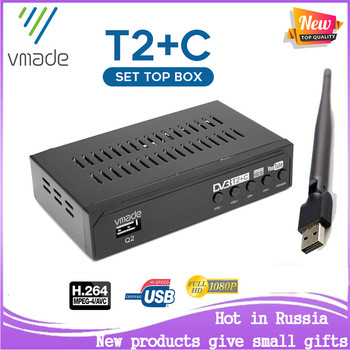 2020 newest HD digital Set-Top Box DVB T2+C two in 1 receiver DVB T2 TV tuner DVB C support WIFI DVB T2 receptor dvb t2 dvb t h 264 full 1080p mpeg 2 4 digital tv tuner iptv m3u hd set top box support youtube meecast terrestrial receiver