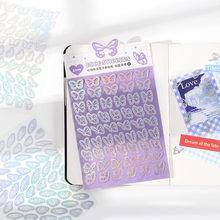 3 unids/pack mariposa sueño amor pegatinas DIY Scrapbooking Papelería Teléfono Móvil ordenador pegatinas de regalos de los niños
