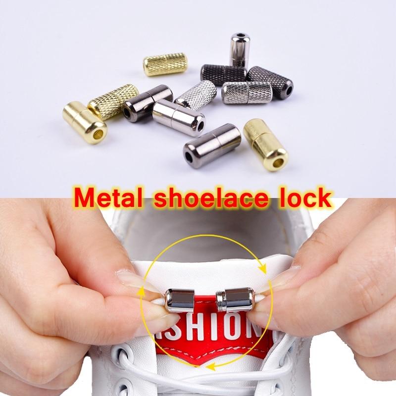 2pcs/pair No Tie Shoelaces Buckle High Quality Metal Lock Convenience Accessories Fit 3.5mm Thick Shoelace Metal Lace Buckle