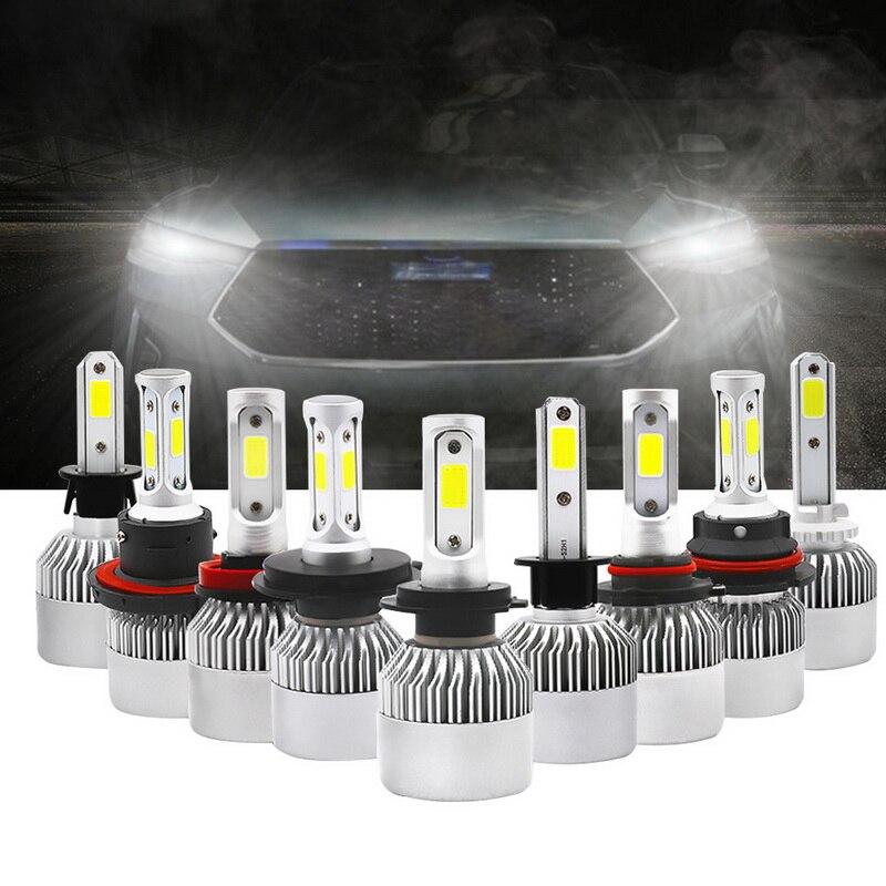 2PCs S2 8000ML Bright COB LED H4 Led H7 Led Car Headlight Bulbs H11 H13 H1 9005 9006 9007 Conversion Kit 6500K Beam 12V Light