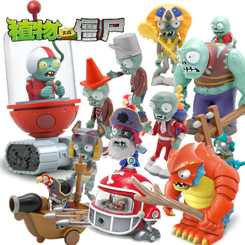 Plants vs Zombies Children's Toy Accessories Bulk Barricade Iron Bucket Sun God Cowboy Xinjiang Corpse Figure Hand image