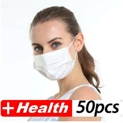 50 Pcs 3 Layer Disposable Medical Protective Face Mouth Masks 