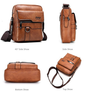 Image 2 - New Men Small Laptop Messenger Bags Mens Leather Shoulder Bag For IPAD Mini Tablet Man Crossbody Business Bags For Phone Wallet