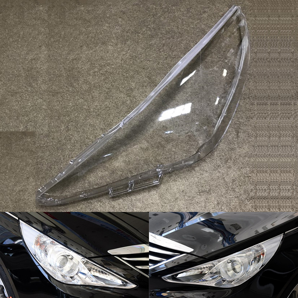 Car Headlight Lens For Hyundai Sonata 2011 2012 2013 2014 Headlamp Lens Car  Replacement   Auto Shell Cover