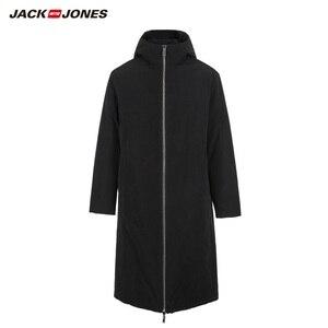 Image 5 - JackJones الرجال عكسها مقنعين معطف بركة (سترة من الفراء بقبعة للقطب الشمالي) طويلة وسادة مبطنة الملابس الرجالية 218409505