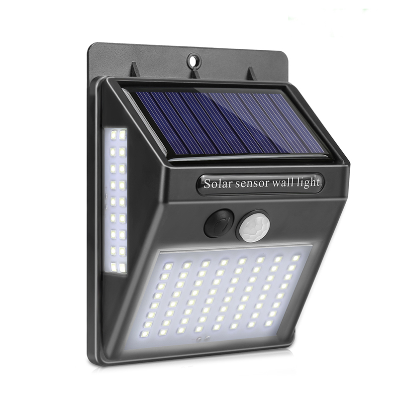 100 LED Solar Light Outdoor Rechargable Solar Lamp PIR Motion Sensor Wall Light Waterproof Solar Powered For Garden Decor