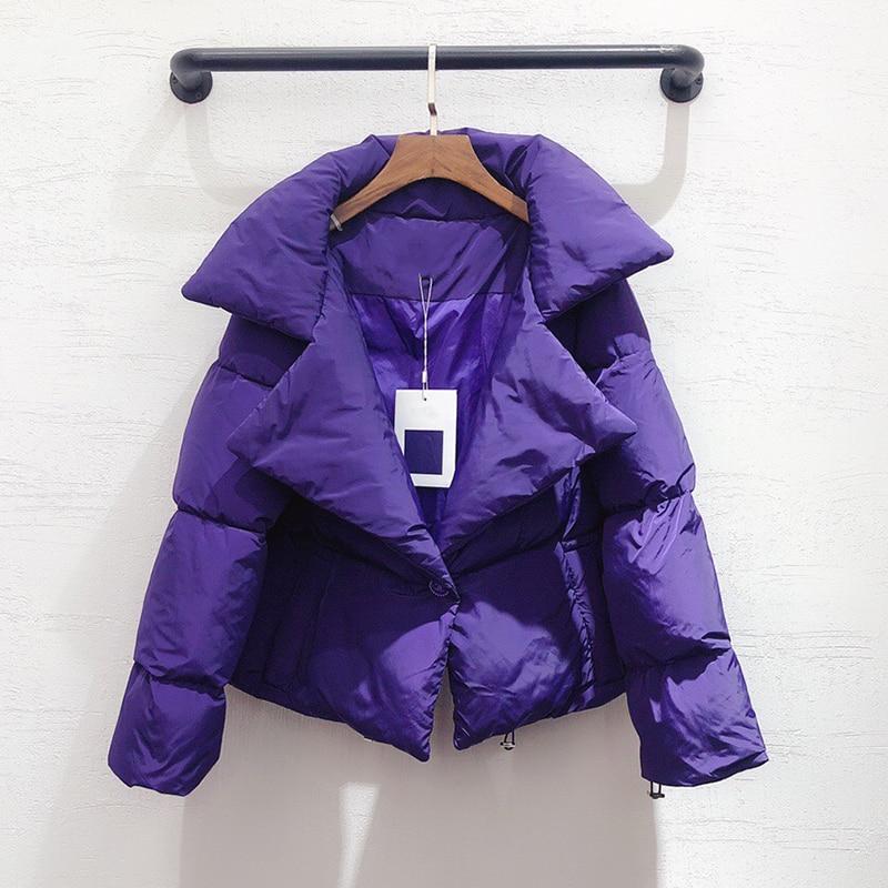 Femmes veste hiver chaud épais veste manteau 2020 femme court vestes décontracté - 4