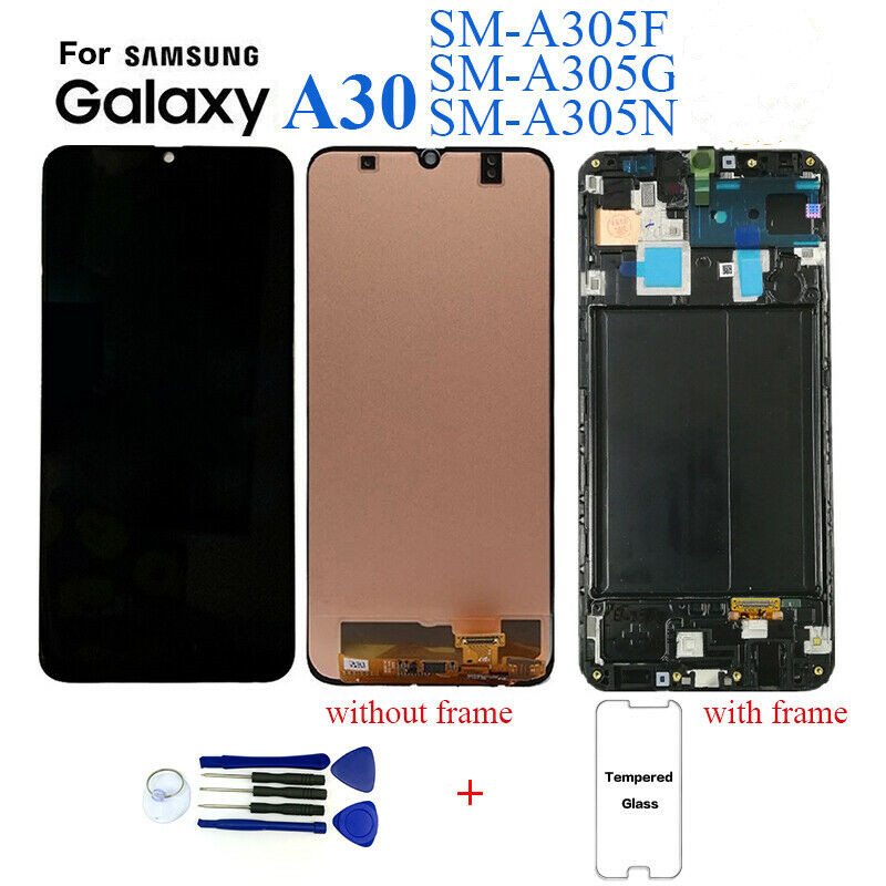 For <font><b>Samsung</b></font> galaxy 6.4 <font><b>screen</b></font> <font><b>A30</b></font> A305 /DS A305F A305FD A305A <font><b>LCD</b></font> touch <font><b>screen</b></font> digitizer mount for <font><b>Samsung</b></font> <font><b>A30</b></font> <font><b>lcd</b></font> frame + tools image