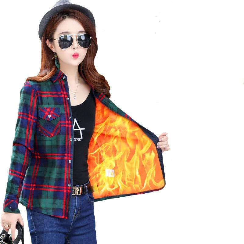 Large Size 2019 New Fashion Autumn Winter   Blouse   Women Casual Sexy Plus Velvet   Shirt   Plus Size Slim Warm Blusas Clothing Female