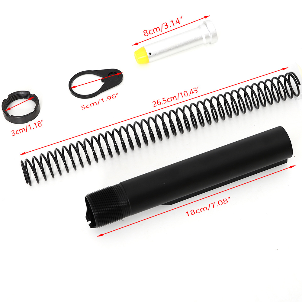 1 Set Buffer <font><b>Tube</b></font> Aluminum Alloy Unique Accurate Light Weight Practical AR15 Accessories AR Buffer For <font><b>M4</b></font> AR15 Series Rifle image