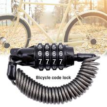 Mini Portable Spring Anti-theft Bicycle Code Lock 3 Digits Combination Password Disc Cable