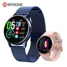 2020 جديد إمرأة Smartwatch IP68 مقاوم للماء لبس جهاز مراقب معدل ضربات القلب ساعة ذكية ل أندرويد IOS inteligentny zegarek