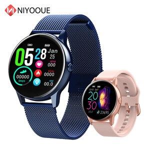 Image 1 - 2020 nouveau Smartwatch femme IP68 étanche portable dispositif moniteur de fréquence cardiaque montre intelligente pour Android IOS inteligentny zegarek