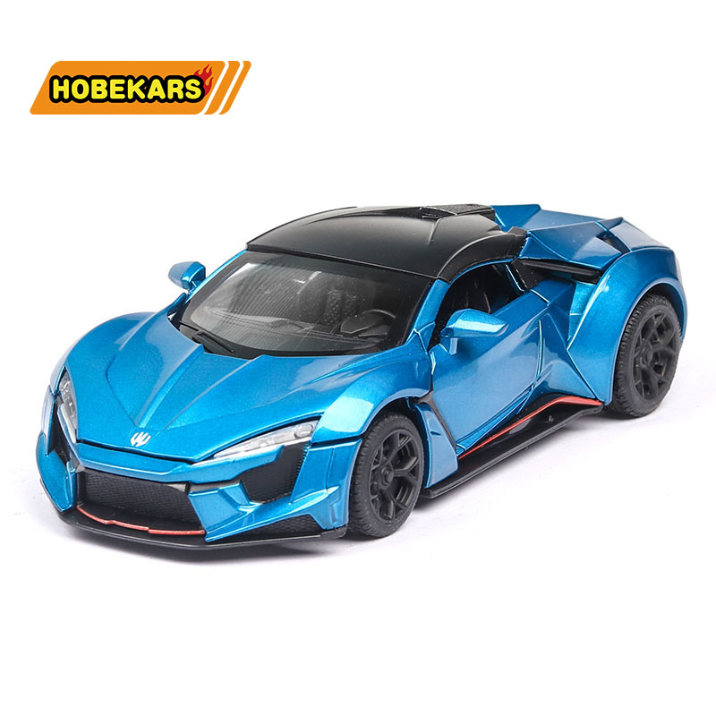 Diecast 1:32 New Lyken Sport-car Model Car Metal Alloy Car Simulation Pull Back Vehicles Cars Toys For Kids Gifts For Children