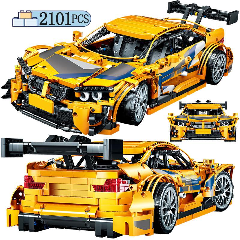 Городской Классический мини-внедорожник, техническая модель автомобиля, строительные блоки, творческий механический спортивный автомобил...