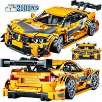 La ciudad de Mini clásico SUV técnica modelo de coche DIY bloques creador mecánica vehículo deportivo ladrillos MOC juguetes para niños de regalo