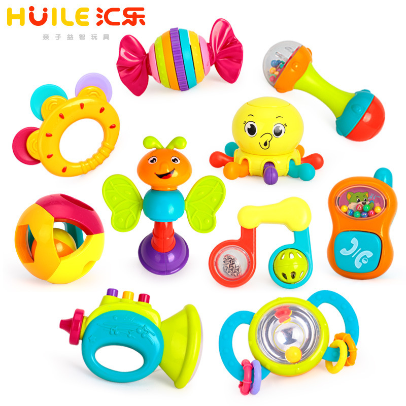 Tianyuan Toy Huile Toys 939 Rattle Infants Rattle Baby Toy 10 Gift Box