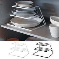 台所の排水ラックシンプルな家庭用排水ラック 3 層収納ラックボウル皿