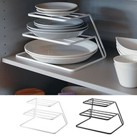 Kitchen Drain Rack Simple Household Drain Rack Three Layer Storage Rack For Bowl Dish|Racks & Holders|   -
