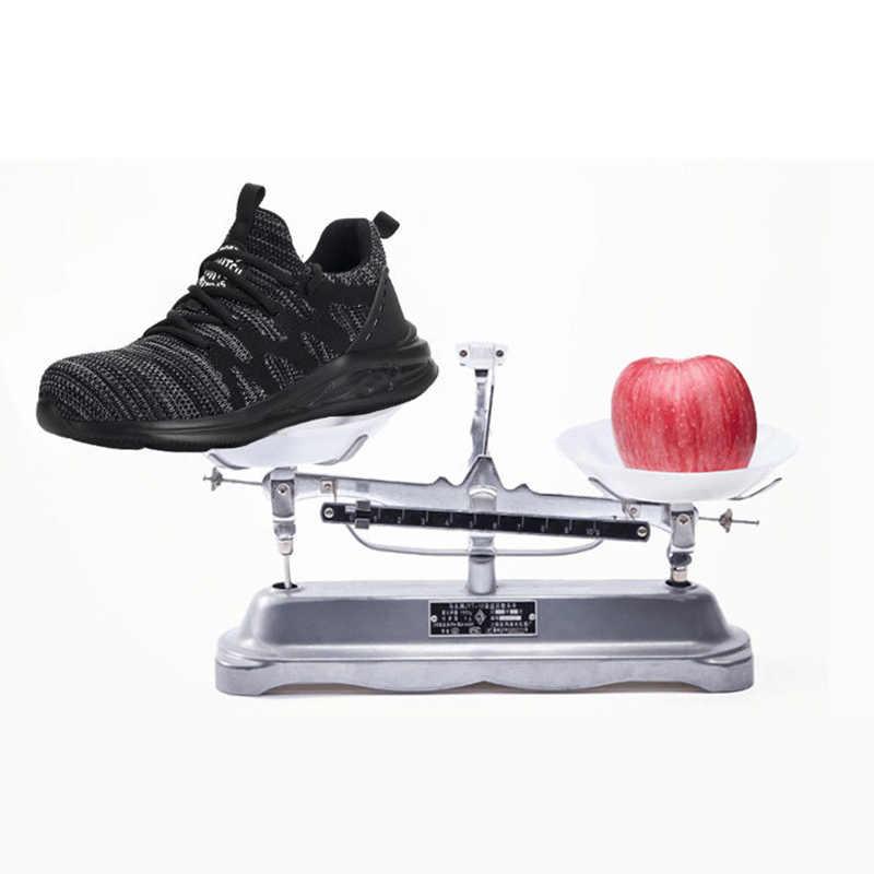 Dropshipping น้ำหนักเบาทำลายรองเท้าผู้หญิง Toe ความปลอดภัยรองเท้าเจาะหลักฐานรองเท้าผ้าใบ Breathable รองเท้าทำงาน