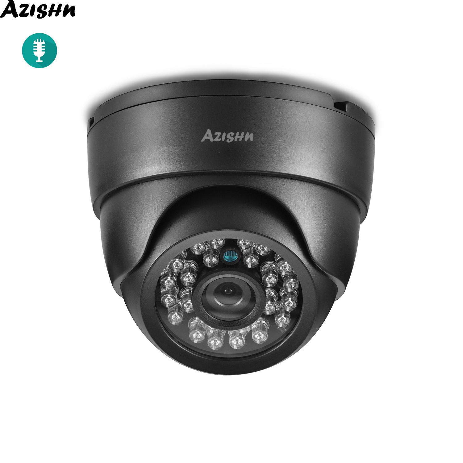 AZISHN Security Audio IP Camera <font><b>Hi3516EV300</b></font>+ SONY IMX335 5MP 4MP 1080P Indoor Night Vision CCTV Home Dome Camera ONVIF 48V POE image
