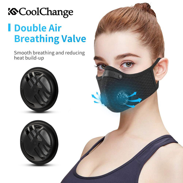 CoolChange Cycling Face Mask Activated Carbon With Filter PM2.5 Anti-Pollution Bike Sport Protection Dust Mask Anti-droplet 2