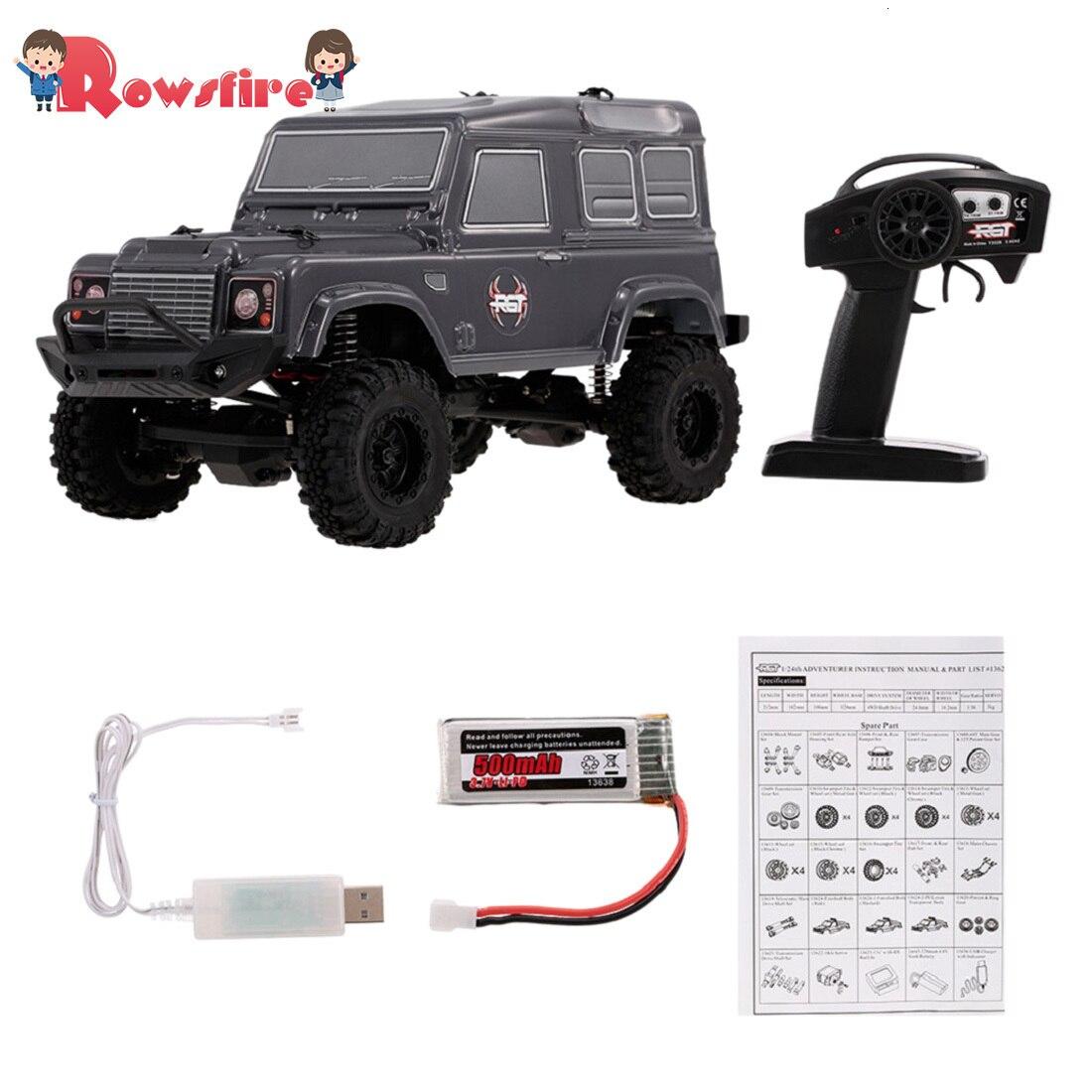 Rowsfire 1 Pcs RGT 1:24 2.4G 4WD 15km/H Simulation RC Off-Road Crawler Vehicle Climbing Car RTR Version - Grey/Silver