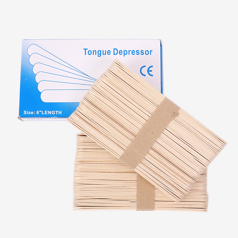 Disposable Wood Tongue Depressor Waxing Stick For Waxing Spatula Tongue Depressor Disposable Bamboo Removal Sticks Tattoo Supply