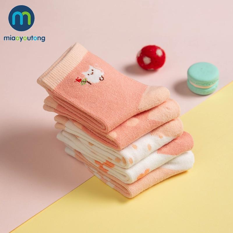 5 Pair Jacquard Cat Unicorn Rabbit Comfort Warm Cotton High Quality Kids Girl Baby Socks Child Boy Newborn Socks Miaoyoutong 5