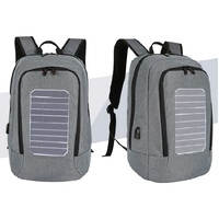 Good quality anti theft unisex school bag laptop solar power backpack with usb charger smart shoulder backpack